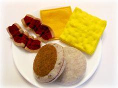 Felt Food Bacon Eggs Play Food Sandwich Toy Breakfast Set. $20.00, via Etsy.