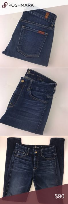 7 For All Mankind Women's High Waist Skinny Jeans Preowned but in like new condition! Hardly worn! Smoke free home. No imperfections, stains, or holes. 7 For All Mankind Jeans Skinny