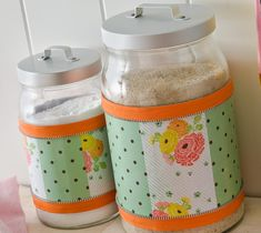 Decoupage - Mod Podge Kitchen Canisters
