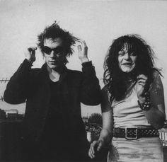 """Johnny Rotten and Ari Up Gunter Grove, 1978 Photographer: Joe Stevens 70s Punk, Punk Goth, Punk Rock Girls, Skinny Puppy, British Punk, Johnny Rotten, Acid House, Teddy Boys, Psychobilly"