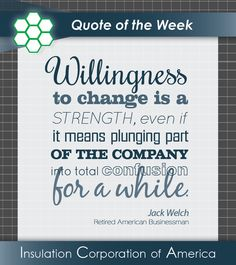 #Quote of the Week ~ Jack Welch ~ #Change #Inspiration