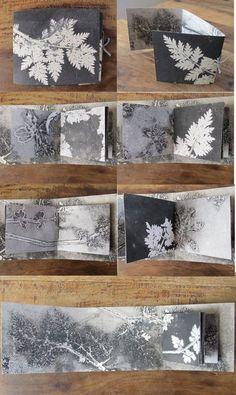 Art journal inspiration: Original botanical art monoprint artist book by fieldandhedgerow Monoprint Artists, Printmaking, Handmade Books, Art Sketchbook, Sketchbook Inspiration, Journal Inspiration, Art Plastique, Botanical Art, Bookbinding