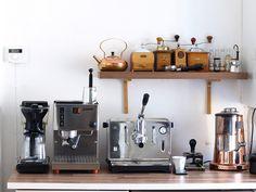 coffee nook: vintage bean grinders