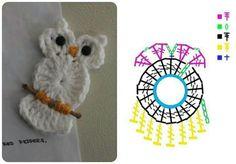 ✼✼ Aplique de Coruja em Crochê - / ✼✼ Apply in Owl of Crochet -
