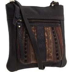 $65.00 Handbags  Fossil Sasha Patchwork Mini Crossbody Handbag Purse ~ Black Multi In Color - This lightweight leather bag is a perfectly compact way to carry everything you need. http://www.amazon.com/dp/B003XSYP9S/?tag=pin0ce-20
