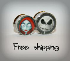 Custom plugs -Stainless steel Gauge-Double flare-Free shipping for US and Canada