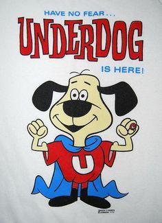 Vtg 90's Underdog Sweatshirt Classic Cartoon by EmeraldCityRetro