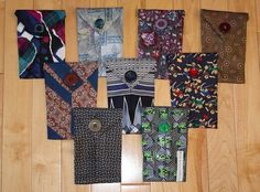 rags2bags by Laurel Phone covers made from men's ties.