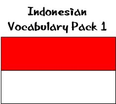 This fantastic teacher resource contains many flash cards and posters to support students to learn Indonesian within a Primary and lower Secondary setting (ages 4-15).