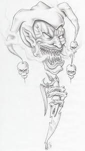 Evil pencil drawings scary clown sketches goblin evil clown tattoo idea sketches strange architecture around the . Joker Drawings, Creepy Drawings, Dark Art Drawings, Tattoo Design Drawings, Skull Tattoo Design, Tattoo Sketches, Pencil Drawings, Drawing Designs, Tattoo Designs