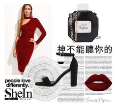 """""""Shein"""" by munevera-berbic ❤ liked on Polyvore featuring Lime Crime, Cyan Design, Kenzie and shein"""