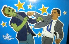 Obama zombie fighter