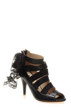 NR39 Kadın Ayakkabı Tüllü Kafes Siyah Mat | limango.com.tr | Alışverişin Zevki O