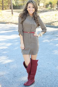 The Little Things Dress: Olive