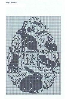 Russian bunny cross stitch pattern