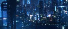 Cyberpunk Neo York VFX shot, Jaime Jasso on ArtStation at… Cyberpunk City, Futuristic City, Futuristic Design, Blade Runner, Sci Fi City, Environment Concept Art, Matte Painting, Shadowrun, Future City