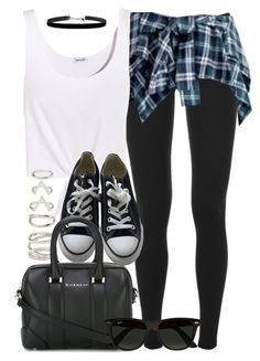 """""""Style #11026"""" by vany-alvarado ❤ liked on Polyvore featuring Splendid, Baimomo, Forever 21, Converse, Givenchy and Ray-Ban"""