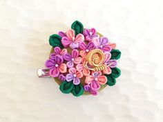 Hey, I found this really awesome Etsy listing at https://www.etsy.com/listing/185272789/japanese-hair-clip-brooch-hydrangea