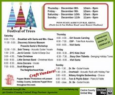 Festival of Trees Dec 8 - 11