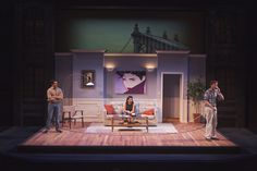 Beyond Therapy. Scenic design by Douglas Clarke. Stage Set Design, Set Design Theatre, Contemporary Plays, Scenic Design, Staging, Design Elements, Musicals, Therapy, Parallel Universe