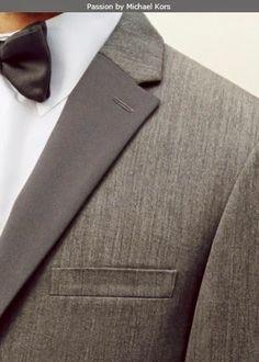 NEW MICHAEL KORS PASSION Tuxedo Suit Slim-Fit Grey Charcoal GRAY 2-Button Grey #Tuxedo