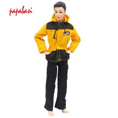 One Set Prince Doll Casual Handmade Clothes Fashion Soldier Outfits for barbie boy firend for barbie doll ken W010