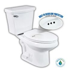 Penguin Toilets�White 1.28 GPF WaterSense Elongated 2-Piece Comfort Height Toilet