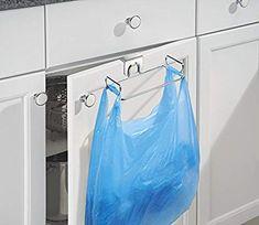 in acciaio con finitura in bronzo mDesign porta sacchetti spazzatura montaggio semplice per poi appendere sacchetti immondizia comodo porta sacchetti e porta buste