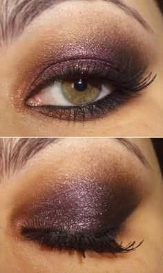Get rhis GORGEOUS look with Mary Kay mineral eye shadows Sweet Plum (my favorite!) and Gold Coast. Marykay.com/k.s