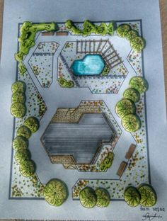 Ideas Garden Drawing Sketch For 2019 Landscape Architecture Drawing, Landscape Sketch, Landscape Design Plans, Garden Design Plans, Architecture Graphics, Garden Architecture, Landscape Drawings, Concept Architecture, Modern Architecture