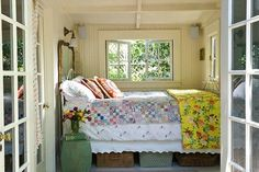 Cozy bed nook, perfect for napping. This SO reminds me of my grandma's old house - there was a tiny room even smaller than this with a bed in it just like this. Beautiful Bedrooms, Home, Home Bedroom, Tiny Bedroom, Dream Bedroom, Bed Nook, Bedroom Design, Lakehouse Bedroom, Cottage Bedroom