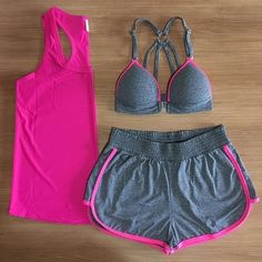 Sporty Outfits, Athletic Outfits, Cute Outfits, Workout Attire, Workout Wear, Cute Running Outfit, Fashion Mode, Fashion Outfits, Polyvore Casual