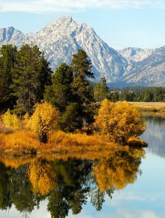 Oxbow Bend in Grand Teton National Park, Wyoming Grand Teton National Park, National Parks, Outdoor Adventures, Drawing Art, Canoe, Wyoming, The Great Outdoors, Places To Go, Things To Do
