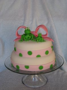 Frog cake. I should make this for my own birthday!