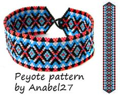 Peyote patternbracelet pattern bead by ColorfulBeadPatterns