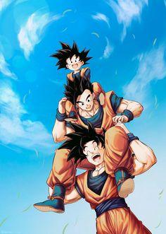 's post 🦋 𝔸𝕟𝕚𝕞𝕖 : Dragon Ball Z ℂ𝕒𝕣𝕒𝕔𝕥𝕖𝕣 : Goku's Family Dragon Ball Gt, Dragon Ball Image, Gohan And Goten, Videl Dbz, Dbz Vegeta, Christmas Dragon, Goku Wallpaper, Dragonball Wallpaper, Funny Dragon