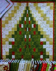 Christmas Tree Bordello ~ class sample made by Goldie for a class she will be teaching at Honey Run Quilters in September 2014 ~ Quilted by Jo, Moonbear Designs and Quilting: August Quilts