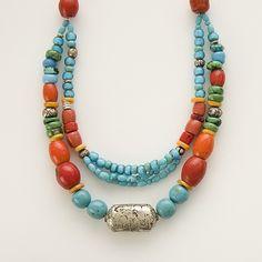 Tibetan style necklace vintage silver old von AnnBrooksStudio
