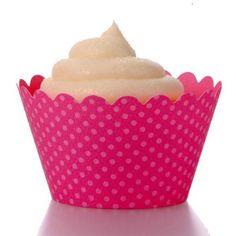 Dress My Cupcake Emma Fuchsia Cupcake Wrappers, Set of 12: Amazon.com: Home & Kitchen