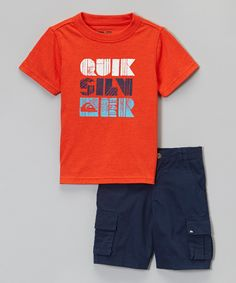 This Orange Logo Tee & Navy Shorts - Infant & Toddler by Quiksilver is perfect! #zulilyfinds