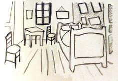 Art Worksheets: Art Worksheet: Lino Print of Van Gogh's Bedroom