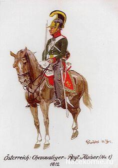 Austria; CheveauLeger Regt. Kaiser(No.1) 1812