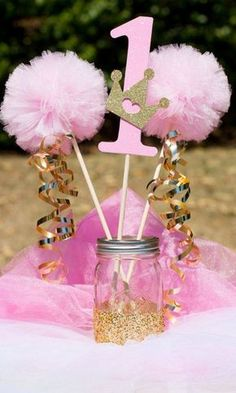 Pink and Gold Birthday Centerpieces Best Of Pink and Gold Princess Party Decorations Centerpiece with