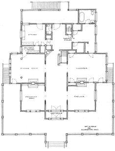 Historic Coleman House :: Floor Plan