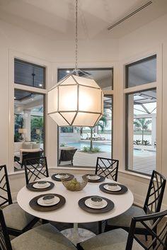 "Dining room in Divco Custom Homes ""Antigua"" model in Miromar Lakes. Divco Homes | Naples, FL | Divcohomes.com"