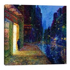 "JaxsonRea ""Window Shopper"" by Iris Scott Painting Print on Wrapped Canvas Size: 18"" H x 18"" W x 1.5"" D"
