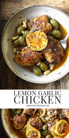 Lemon Garlic Chicken, Garlic Butter Sauce, Best Meat, Original Recipe, Food Inspiration, Poultry, Recipe Ideas, Delish, Dinners