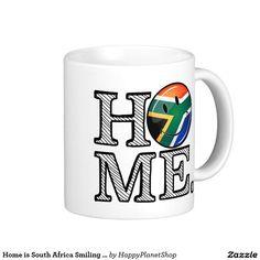 Home is South Africa Smiling Flag Housewarming Coffee Mug