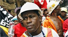 """December 4, 2007: South Africa's 270,0000-member National Union of Mineworkers calls for a one-day strike action to protest unsafe working conditions in the country's mines. In 2007, over 200 miners died on the job in South Africa. """"We are losing mine workers on an almost daily basis,"""" said a union spokesperson. """"This is because of pure negligence."""""""