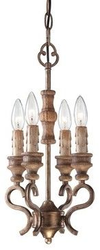 Minka Lavery 4206 4 Light 1 Tier Candle Style Chandelier Abbott Place C traditional-chandeliers